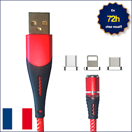 Magnetic Charger  1m 2.4a Led Micro Usb, Lightning, or Usb Type-c