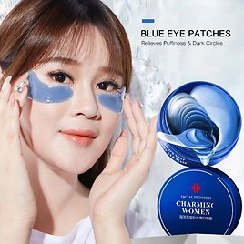 60pcs Blue Crystal Collagen Eye Mask Anti Aging Anti Puffiness Eye Patches Remove Dark Circle Crystal Beauty Skin Care