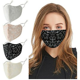 Lace Floral Fashion Face Mask Cover Breathable Mouth Masks Reusable Washable