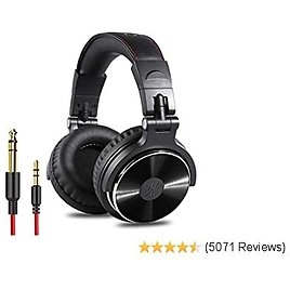 OneOdio Adapter-Free Closed Back Over Ear DJ Stereo Monitor Headphones, Professional Studio Monitor & Mixing