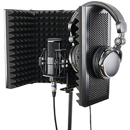 US $45.12 27% OFF 5 Panel Foldable Studio Microphone Isolation Shield Recording Sound Absorber Foam Panel Other Parts & Accessories  - AliExpress