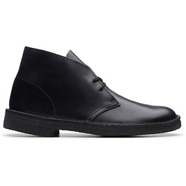Desert Boot Black Polished- Mens Boots- Clarks® Shoes Official Site | Clarks