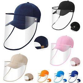 Full Face Shield Baseball Cap Hat Cover Protection Stop Water Droplets Shop Work
