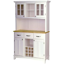 HOMESTYLES White and Natural Buffet with Hutch