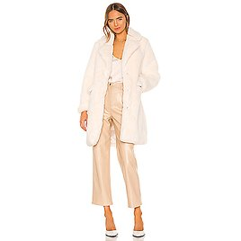 KENDALL + KYLIE Peacoat With Sleeve Panel in Ecru   REVOLVE