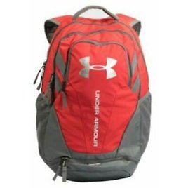 Under Armour 1294720 Hustle 3.0 Backpack, Red/Gray 614019599440