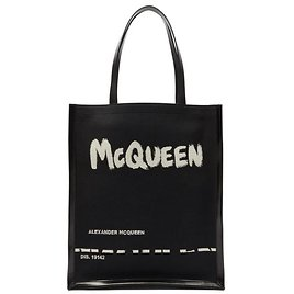 Logo-print Canvas and Leather Tote Bag   Alexander McQueen   MATCHESFASHION US