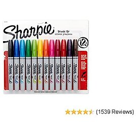CHEAP PRICE Sharpie 1810704 Permanent Markers, Brush Tip, Assorted, 12 Pack