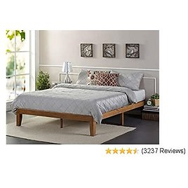 Zinus Alexia 12-Inch Standard Wood Platform Bed in Rustic Pine Finish, Full - No Boxspring Needed, Wood Slat Support