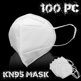 100pc KN95 Face Mask Respirator Cover 5Layer Disposable Safety Cover PFE 95%