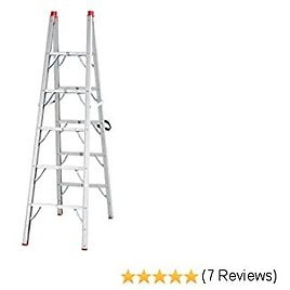 """HomCom Multi-Purpose Folding Aluminum Ladder with 5 Platforms, for Indoor & Outdoor Use & a 330lbs Capacity, 73.5"""" Tall"""