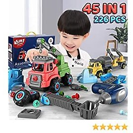 45-in-1 Take Apart Toys Construction Truck Learning Playsets | 226 PCS