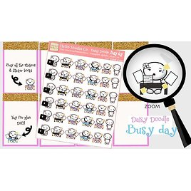 Busy Day Planner Stickers Daisy-Doodle Emoti Planner Stickers | Etsy
