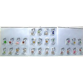 """Crystal & Enamel """"Invisible"""" Elastic Band Toe Rings Assorted Designs *New*"""