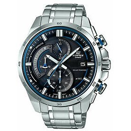 Casio EQS600D-1A2 Edifice 49MM Men's Chronograph Stainless Steel Watch