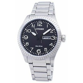Citizen Eco-Drive Men's Black Dial Day and Date Window 42mm Watch BM8530-89E 4974374273581