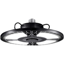 DuuToo LED Garage Lights 60W Deformable 6000LM Close to Ceiling Light Fixtures E26 Screw in Three Leaf Triple Glow Lighting for Work Shop Warehouse Low Bay New Arrival 2 Pack