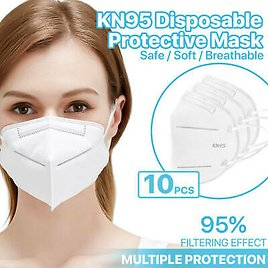 [10 Pack] KN95 Face Mask 95% Filter Disposable Respirator 5-Ply Protective Cover 6971705400034