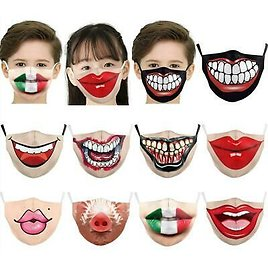 Kids Reusable Unisex Funny Washable Facemask Half Face Mouth Filter HipHop Mask