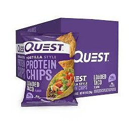 Quest Tortilla Style Protein Chips - Spicy Sweet Chili (8 Bags)