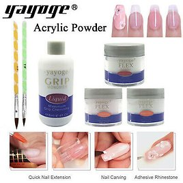 Acrylic Powder Crystal Nail Art Tip Building Powder For Nail Extension 3D Carved