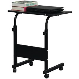 Ktaxon Adjustable Height PC Computer Rolling Desk Laptop Table Cart Mobile Bed Stand