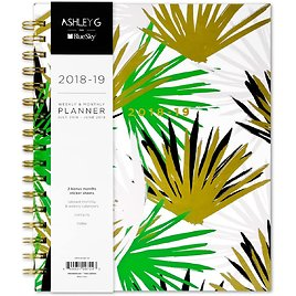 Ashley G for Blue Sky 2018-2019 Academic Year Weekly & Monthly Planner