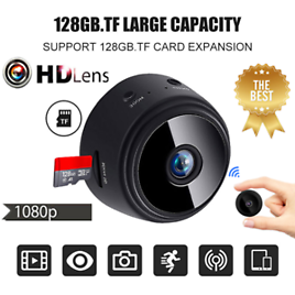 1080P Mini IP WIFI Camera Camcorder Wireless Home Security DVR Night Vision@