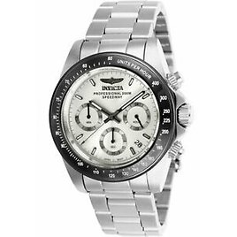 Invicta Men's Watch Speedway Chronograph Silver Dial Silver Bracelet 26111