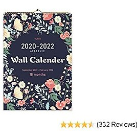 2020 Calendar-18 Monthly Wall Calendar with Thick Paper,Large Wall Calendar 12x17 Inches,Vibrant September 2020- February 2022…