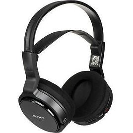 2-PACK Sony MDR-RF912RK Over-Ear Wireless Radio Frequency Stereo TV Headphone