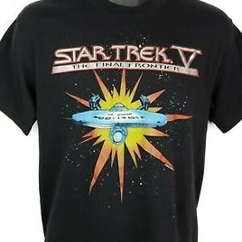 Star Trek V The Final Frontier T Shirt Vintage 80s 1989 Promo Made In USA Large