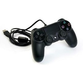 (Y) Sony PS4 Original Dualshock 4 Black Controller Gamepad Only with Cable