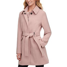 Calvin Klein Single-Breasted Belted Coat & Reviews - Coats - Women