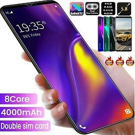 """5.8"""" Note10+ Smart Mobile Phone 4G+64GB Dual SIM Octa Core Android 9.1 Unlocked"""