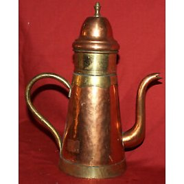 Antique Hand Made Copper/Brass Teapot with Spout