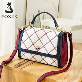 US $47.65 64% OFF FOXER Limited Release England Style Women's Shoulder Messenger Bags Summer Girl's Travel Stylish Handle Bag Lady Plaid Flap Bag Top-Handle Bags  - AliExpress