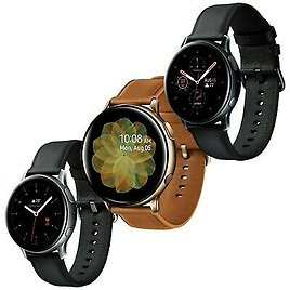 Samsung Galaxy Watch Active 2 SM-R820 44mm Leather Stainless Steel Smartwatch