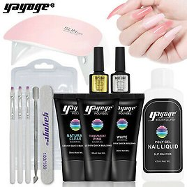 Yayoge Poly Nail Gel Kit 30ml With Slip Solution Extension Builder Enhancement