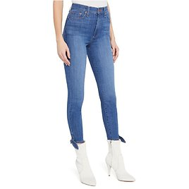 GOOD HIGH RISE ANKLE TIE JEAN