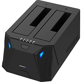 Sabrent USB 3.0 to SATA I/II/III Dual Bay External Hard Drive Docking Station for 2.5 or 3.5in HDD