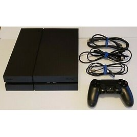 Sony PlayStation 4 PS4 CUH 1215A Jet Black Console w/ Controller, Cables 500gb 268268110194