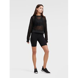 CROPPED MESH PULLOVER-Sweaters & Jackets-Sale-DKNY- Donna Karan