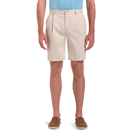 Traveler Collection Traditional Fit Pleated Front Twill Shorts - All Pants | Jos A Bank