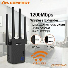 COMFAST Dual Band 1200Mbps WiFi Repeater Wireless Range Extender Booster Network