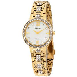Seiko Core Solar Movement Mother of Pearl Dial Ladies Watch SUP364