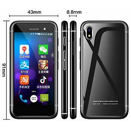 Melrose S9 Plus Mobile Phone 4G LTE 2.5 Inch Smallest Smartphone With Google Pay