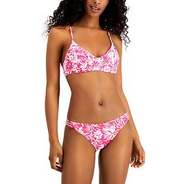 Roxy Juniors' Island Cove Athletic Tri Bikini Top & Strappy Side Hipster Bottoms, Created for Macy's