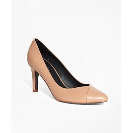 Women's Nude Leather Pumps | Brooks Brothers