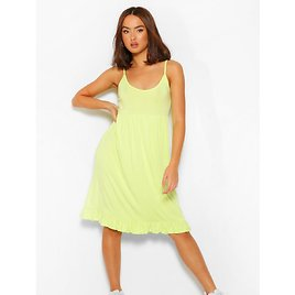 Strappy Tiered Smock Dress | Boohoo